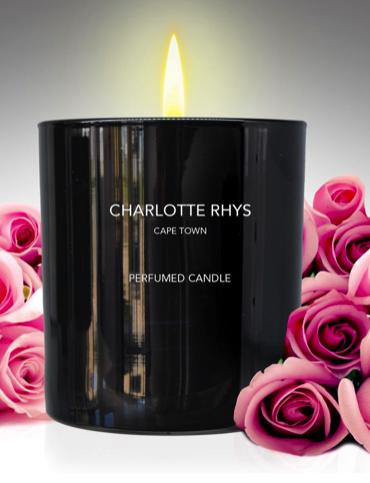CHARLOTTE RHYS LARGE CANDLE - PURE CHARCOAL