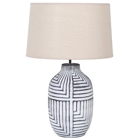 ABSTRACT LAMP WITH SHADE