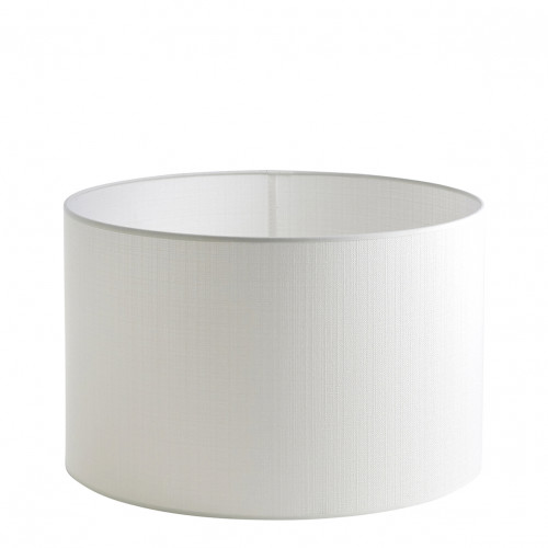 WHITE LINEN EFFECT LAMPSHADE