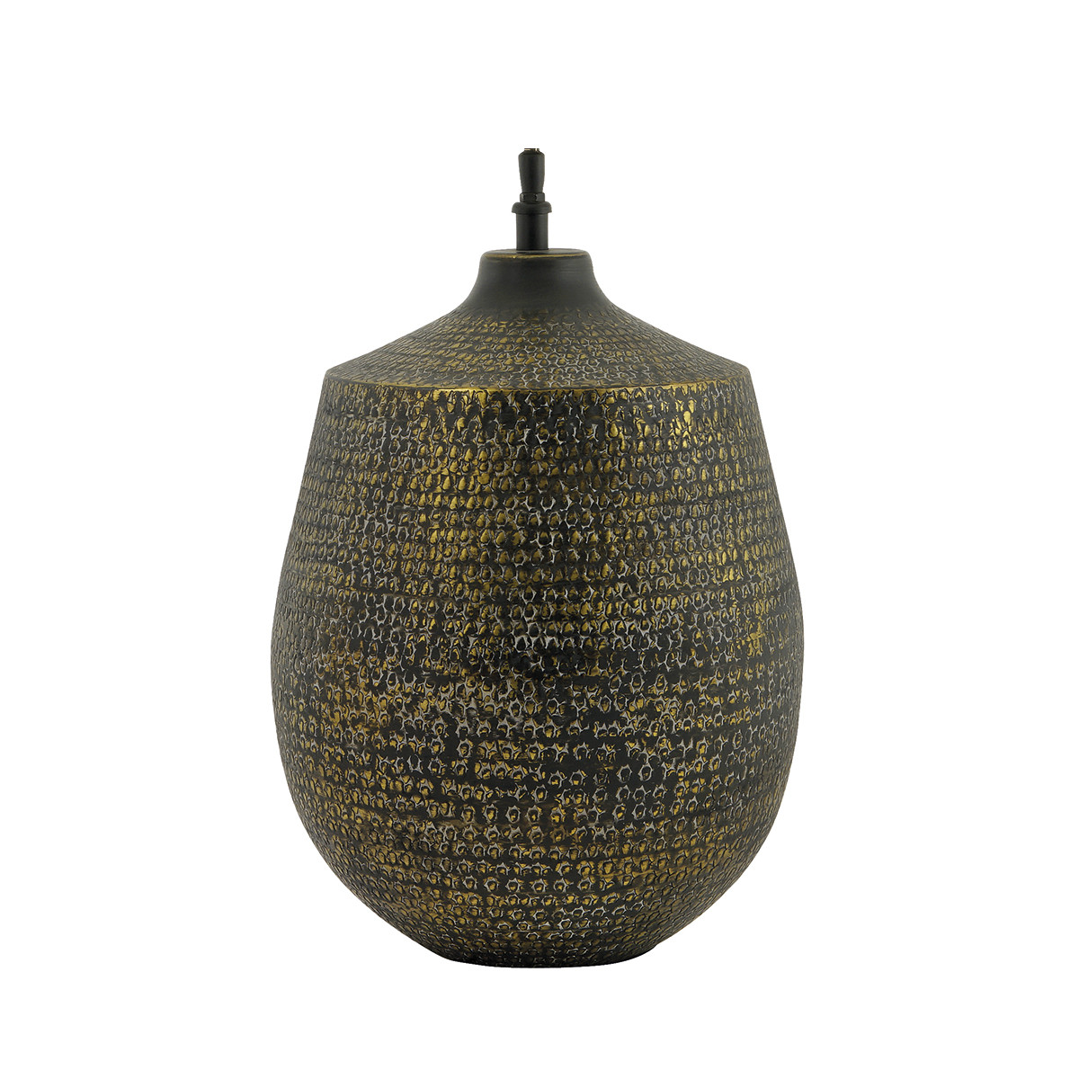 HAMMERED METAL TABLE LAMP BASE