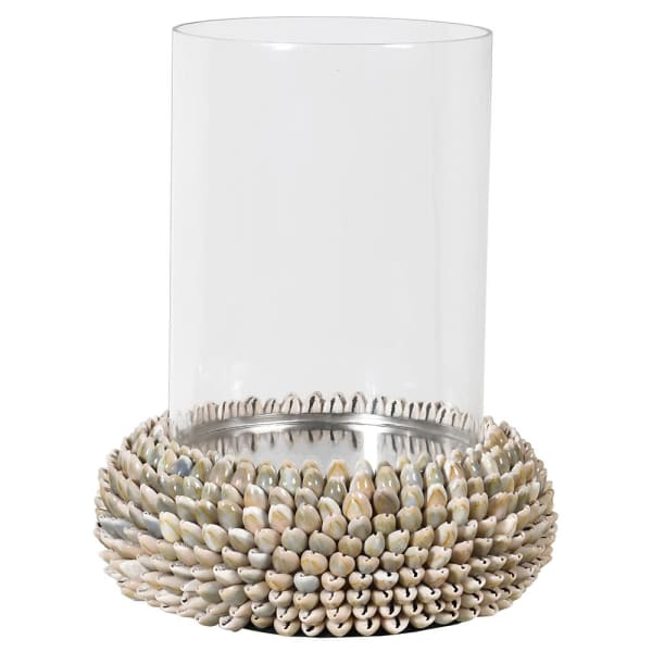 SMALL SHELL CANDLE HOLDER