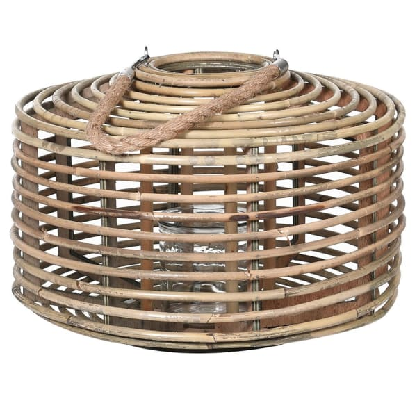 ROUND RATTAN CANDLE HOLDER