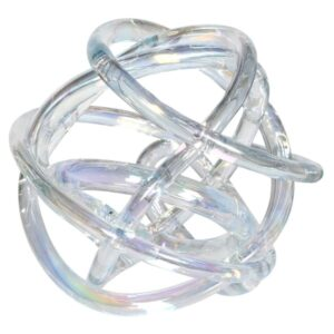 CLEAR GLASS KNOT DECORATION
