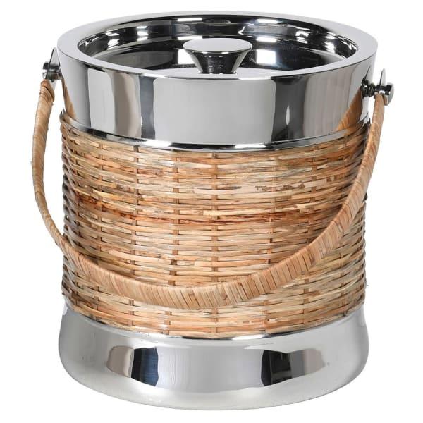 NICKEL AND CANE ICE BUCKET