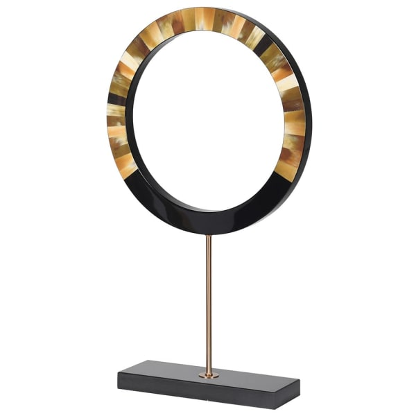 INLAID HORN RING ON STAND