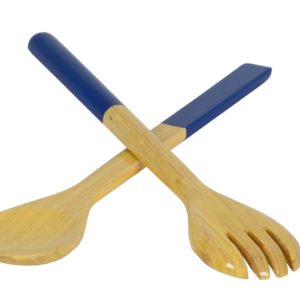 LACQUERED BAMBOO SALAD SERVERS