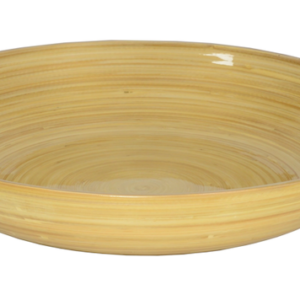 LACQUERED BAMBOO FRUIT BOWL