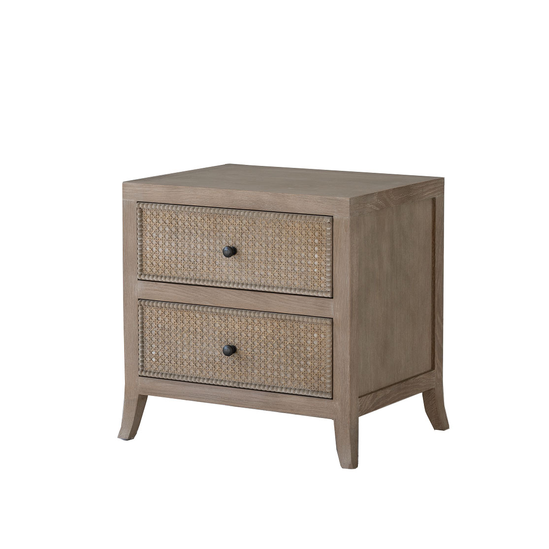 RATTAN FRONT BEDSIDE TABLE