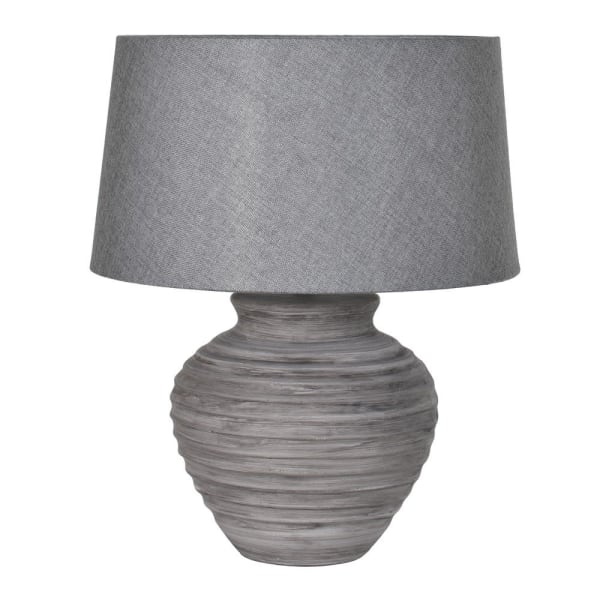 CEMENT LAMP WITH SHADE