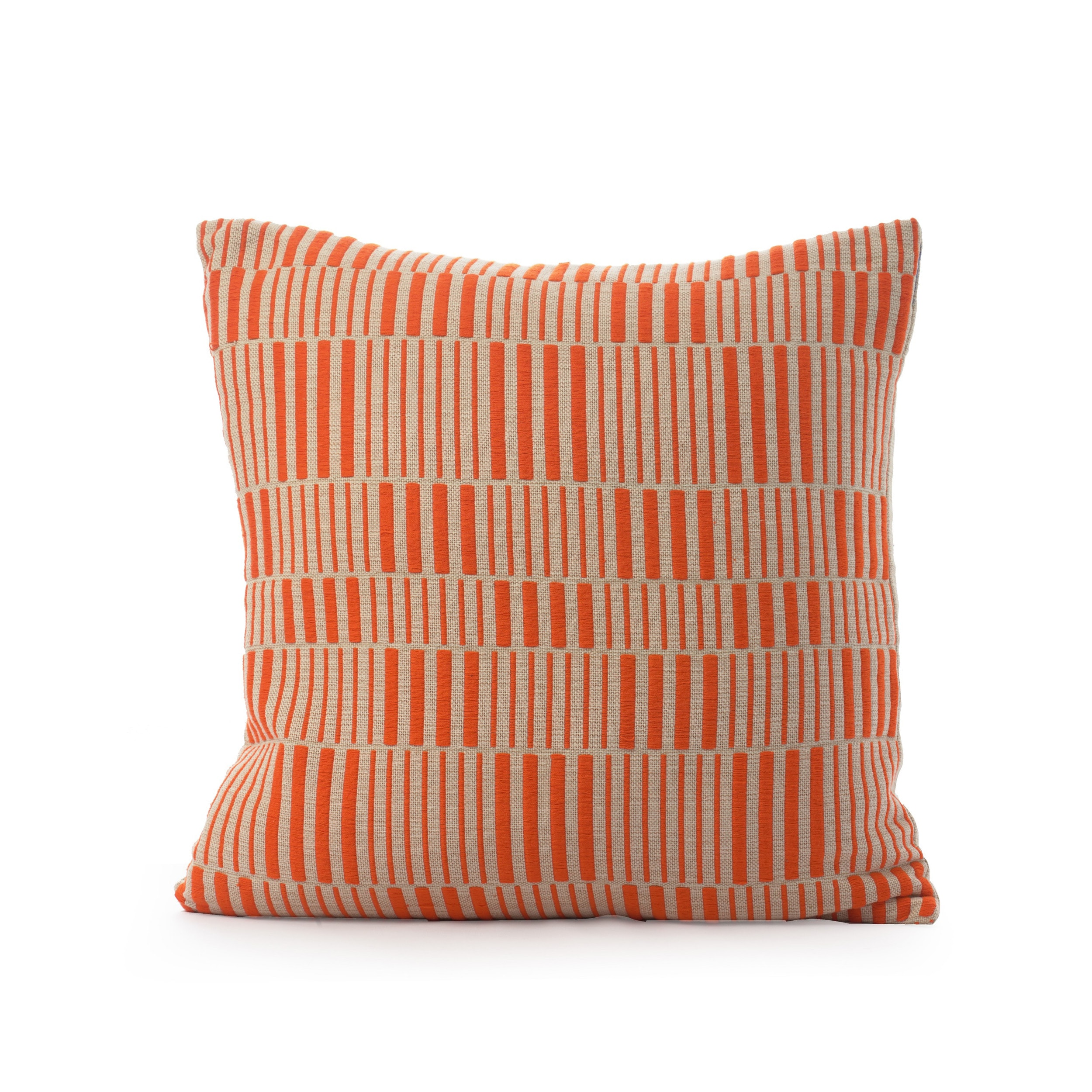 EMBROIDERED STRIPED CUSHION